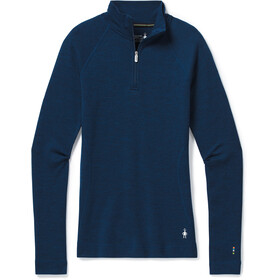 Smartwool Merino 250 Maglia Baselayer Con Zip 1/4 Donna, alpine blue heather